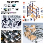 Storage systems and conveyors Product in factories and warehouses Pipe joint system Racking system